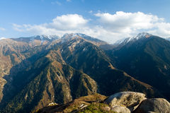 Mountain range in National Park in Kazakhstan Royalty Free Stock Photography