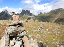 A mountain range in the natural Park Ergaki Stock Images