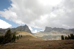 A mountain range in the natural Park Ergaki Royalty Free Stock Photo