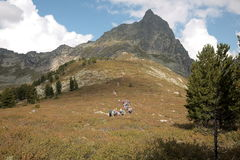A mountain range in the natural Park Ergaki Royalty Free Stock Images