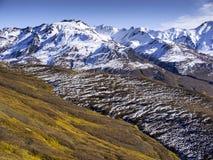Mountain Range Near Denali National Park Stock Photography