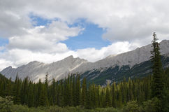 Mountain range near Medicine Lake Stock Photography