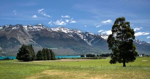 Mountain range near Queenstown Royalty Free Stock Images