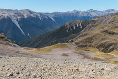Mountain range in Nelson Lakes National Park, South Island, New Zealand Royalty Free Stock Images