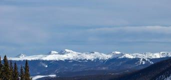 Mountain Range Outside Breckenridge. Wintertime photography royalty free stock photo