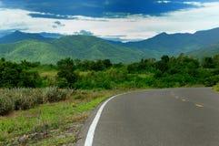 Mountain range with overcast landscape. At ratchaburi province Thailand Stock Image