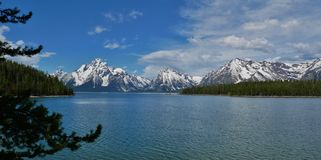 Jackson Lake, Grand Teton National Park, Wyoming stock photo