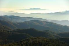 Mountain range panorama Stock Image