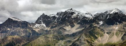 Mountain range panorama Royalty Free Stock Photo