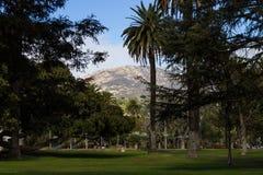 Mountain range and park in Santa Barbara Royalty Free Stock Images