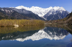 Mountain Range reflected in lake Royalty Free Stock Photography