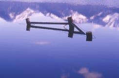 Mountain Range Reflected in Water, Montana Royalty Free Stock Image