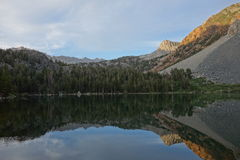 Mountain range reflection in water Royalty Free Stock Photo
