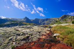 Mountain range at Rila mountain Royalty Free Stock Image
