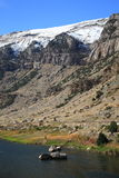 Mountain Range and River - Wyoming Stock Image