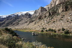 Mountain Range and River - Wyoming Stock Images