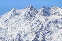 The mountain range in Saas Fee, Switzerland Stock Image