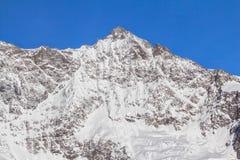 The mountain range in Saas Fee, Switzerland Stock Photography