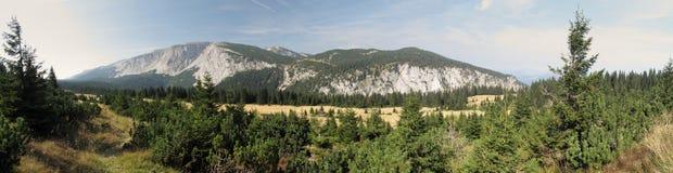 Mountain range of Scheibwaldhohe in Rax Alps Royalty Free Stock Image