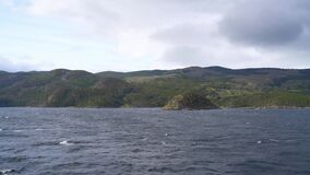 A mountain range seen from a ship in the Cape Horn area