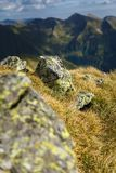 Mountain range with selective focus Stock Photography