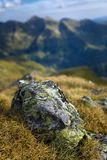 Mountain range with selective focus Royalty Free Stock Photo