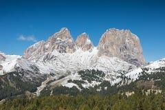 Mountain Range Sella Towers, Dolomites Stock Image
