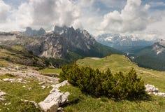 Mountain range in Sexten Dolomites Royalty Free Stock Photography