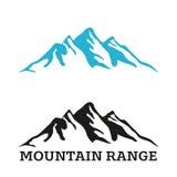 Mountain range silhouette logo template Stock Image