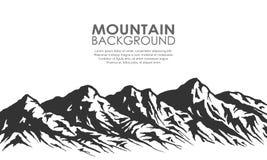 Free Mountain Range Silhouette On White. Royalty Free Stock Photos - 90802628