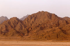Mountain range on Sinai. Peninsula Stock Photography