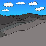 Mountain Range Sky Vector image Royalty Free Stock Image