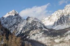 Mountain range with snow Stock Photo