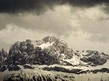Mountain Range in South Tyrol Royalty Free Stock Photo