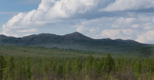 Mountain range in South Yakutia, Russia Royalty Free Stock Images