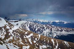Mountain range in the spring Royalty Free Stock Photos