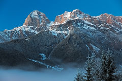Mountain Range Steinernes Meer in Alps at Dawn, Austria Stock Photos