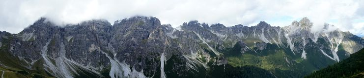 Mountain range in the Stubai Valley Stock Images