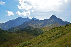 Mountain range in the summer High Tatras, Slovakia royalty free stock images