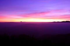 Mountain range with Sunrise Stock Photo
