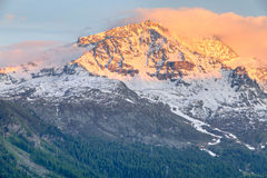 Mountain range at sunset Royalty Free Stock Image