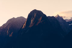 Mountain range at sunset Royalty Free Stock Photography