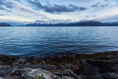 Mountain range sunset Stock Image