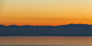 Mountain Sunset Royalty Free Stock Photography