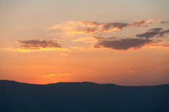 Mountain range at sunset Stock Photography