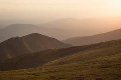 Mountain range on sunset Stock Photography
