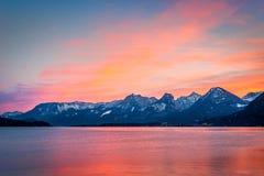 Mountain range at sunset Royalty Free Stock Image