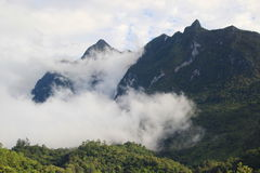 Mountain range in Thailand Stock Photo