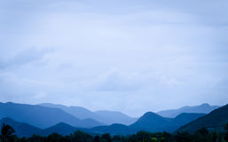 Mountain range in Thailand Royalty Free Stock Photo