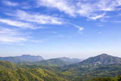 Mountain range under cloud blue sky. For nature background Stock Photography